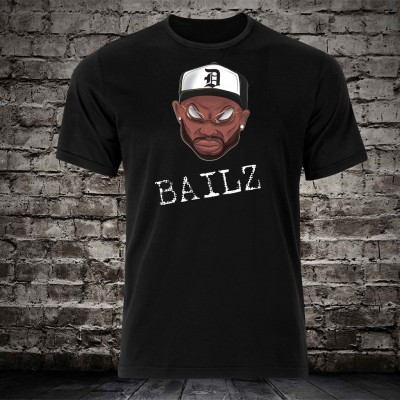 Bailz Cartooned Black T-Shirt