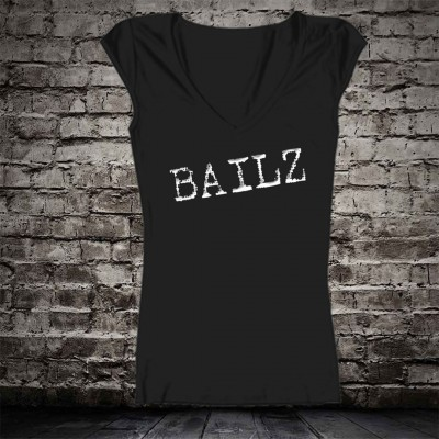BLACK W WHITE BAILZ GIRL T-SHIRT